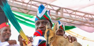 Election: Nigeria's Gov. Lalong gets Antelope as victory sign