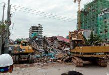 Three dead, dozens feared buried in Cambodia building collapse