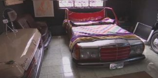 Old cars remodeled into contemporary furniture