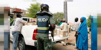 sky news africa Police restricts movements in Nigeria's re-run election