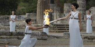 sky news africa No spectators at Olympic flame ceremony for 2020 Tokyo Games