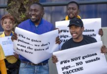 sky news africa Protest versus Africa's 1st COVID-19 vaccine test shows fear