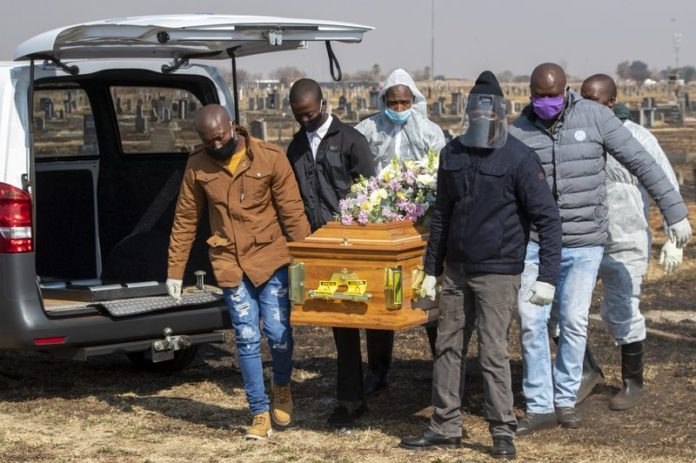 sky news africa South Africa's excess deaths surge as virus like 'wildfire'
