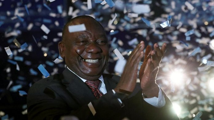 South Africa's ruling ANC supporters celebrate election victory