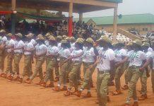 PHOTO: Nigeria's Corps members taking salute