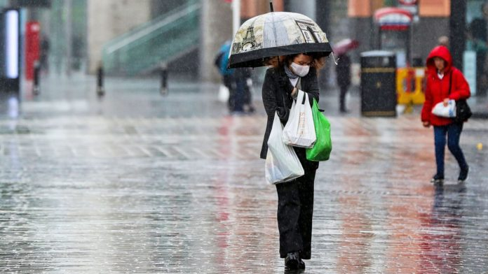 sky news africa UK to be hit by rain, gales and thunderstorms as temperatures drop