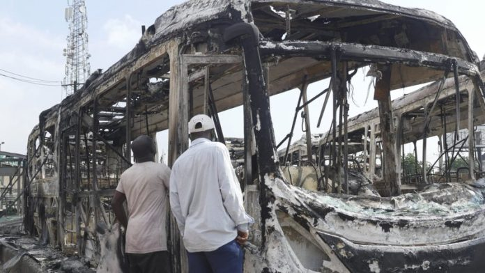 sky news africa Resentment, smoke linger in Nigeria's streets after unrest